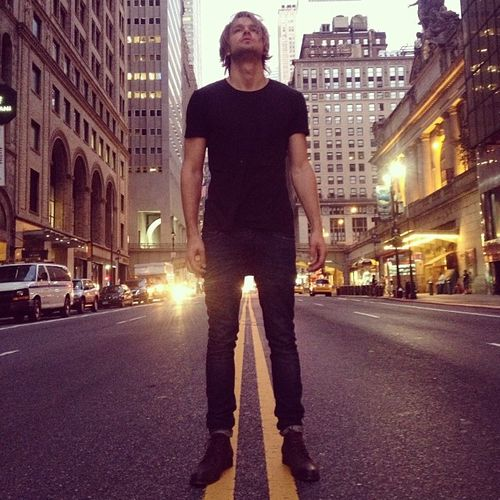 Chord, about to lose his life in NYC.  #Glee