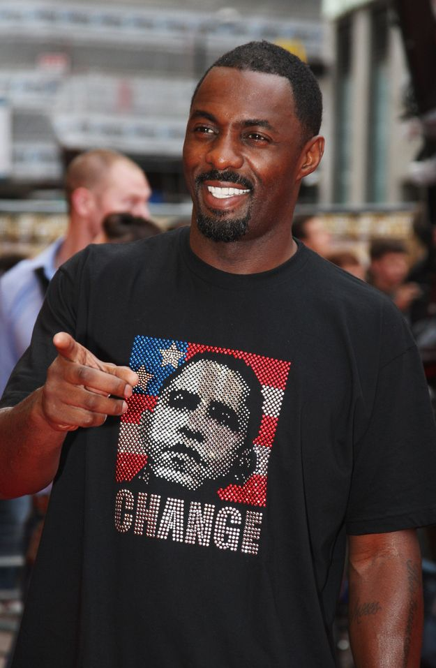 Here he is in this janky Obama shirt. Sure. Sure, why not?