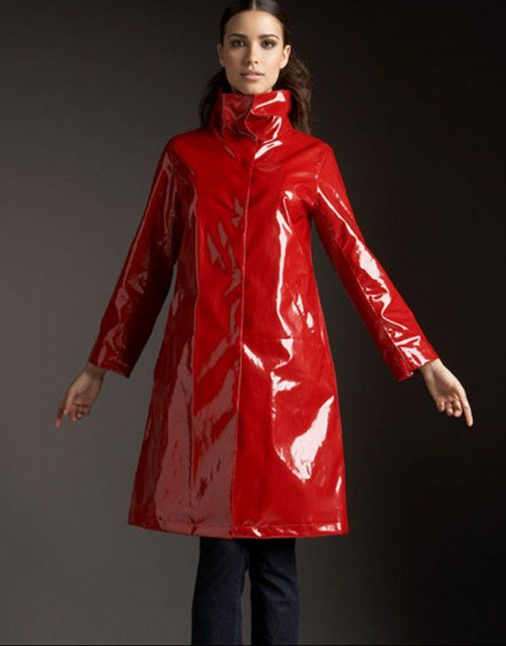 Red PVC Raincoat | newse | Pinterest | Pvc raincoat and Raincoat