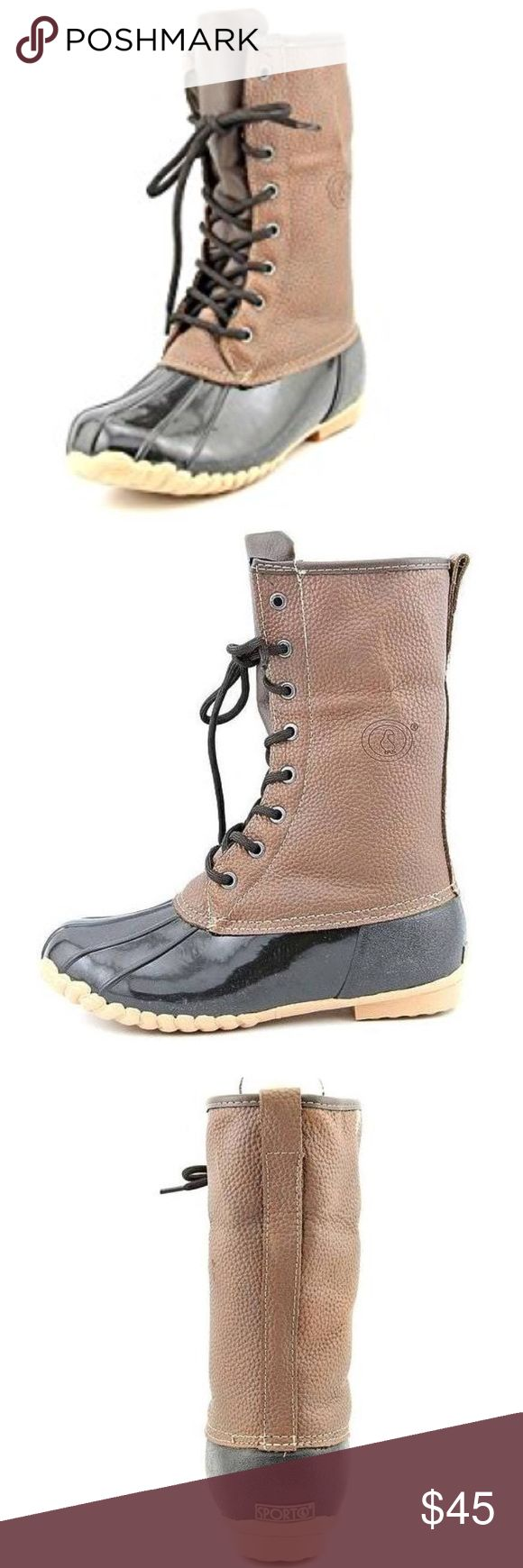 NWOT Sporto Daphne Women's Duck Boot Sporto applies the latest weather-proof technology in its boots to provide maximum comfort while incorporating modern style. From sophisticated styles to cozy winter boots, Sporto offers a wide variety of designs for both work and play. Sporto Shoes Winter & Rain Boots