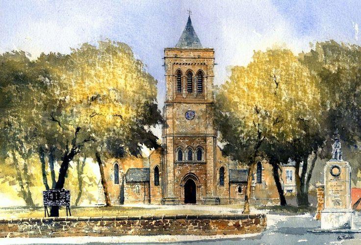 St. John's Church, Shildon   ukwatercolours