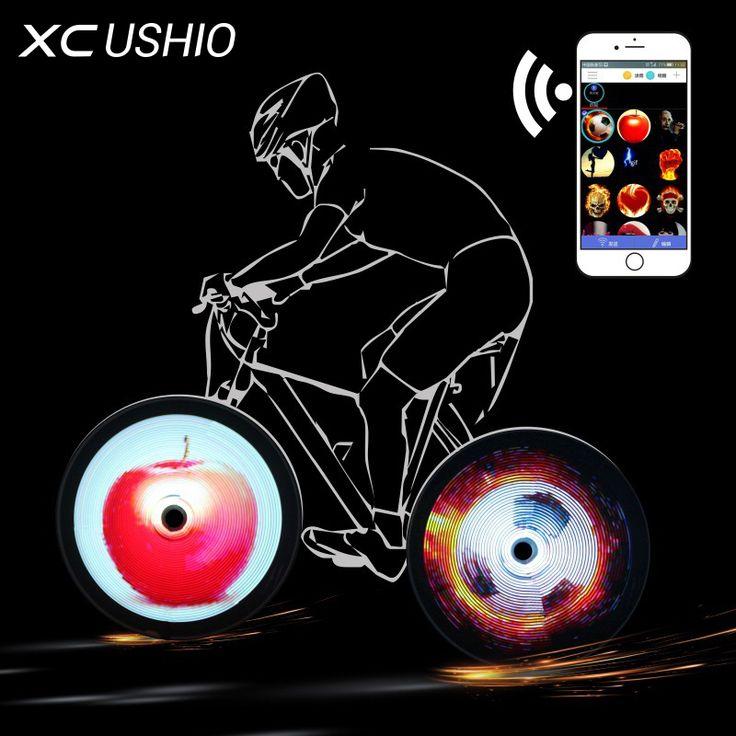 Nuevo Teléfono Inteligente 144 RGB de la Rueda LED Habló Luz de La Bicicleta Colorida Operado APP Impermeable de Ciclo de La Lámpara Accesorios de la Bici de la rueda Del Neumático en Luz de la bicicleta de Deportes y Entretenimiento en AliExpress.com | Alibaba Group