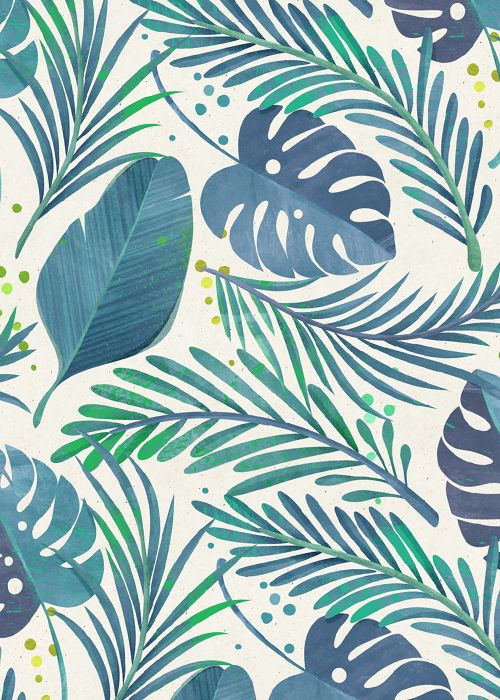 Tropical floral patterns I did a while ago following the trendy craze :)