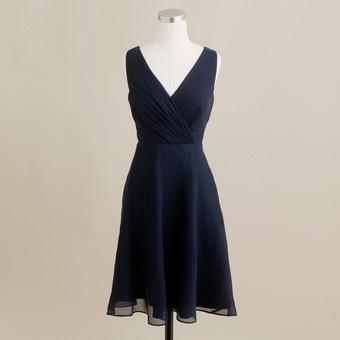 navy blue j crew bridesmaid dress for 59.00