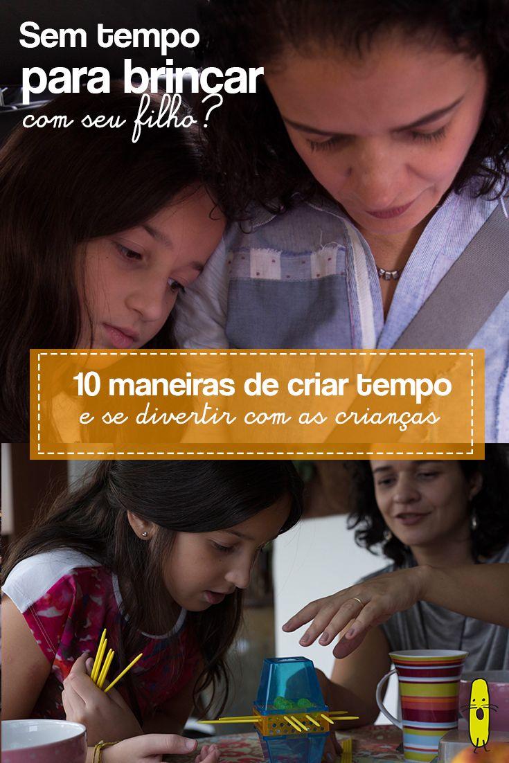 Para uma mãe ou pai ocupado, dicas de como driblar a falta de tempo e brincar com seu filho no dia-a-dia.