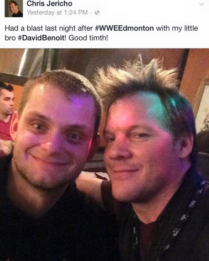 Chris Jericho Backstage With Chris Benoit's son David (Picture)