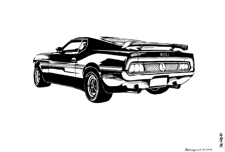for mustang mach b&w ink