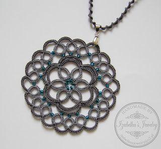 polandhandmade.pl #polandhandmade #izabelkasjewelry #frywolitka #naszyjnik #biżuteria #tatting #jewelry #necklace