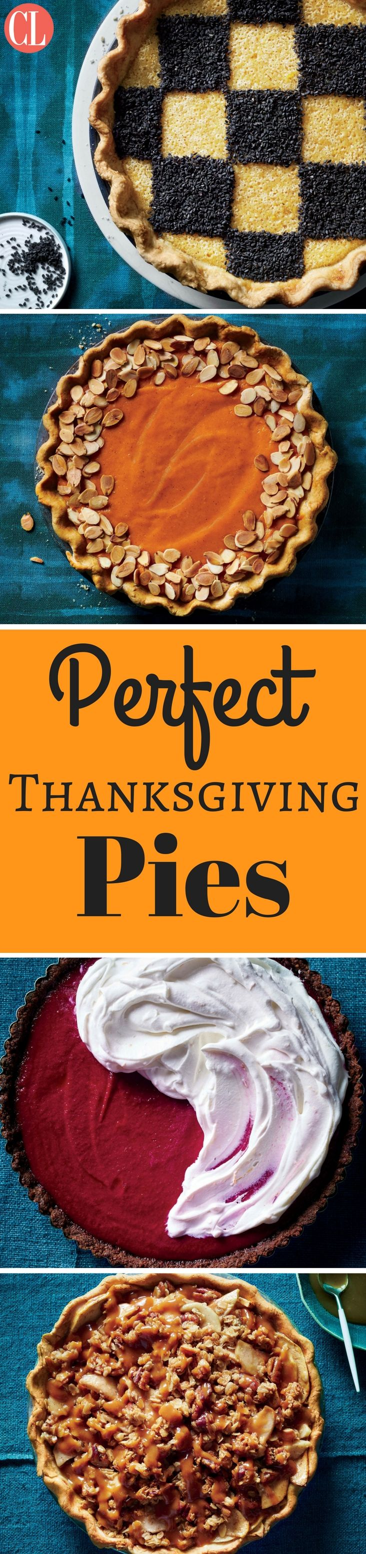 We took the classic pies and jazzed them up for a fun new take on Thanksgiving dessert. Everyone can enjoy these rich (yet light) desserts during the holiday. | Cooking Light