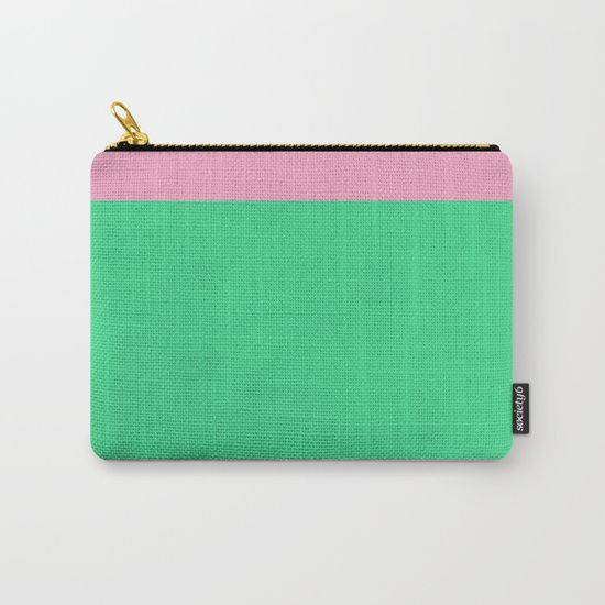 Green Path Carry-All Pouch by Bravely Optimistic | Society6