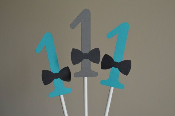 Mustache Centerpiece - Mustache Party Centerpiece -1st Birthday- Number Centerpiece - Mustache Bash - Teal Blue Gray - Set of 6 on Etsy, $13.34 CAD