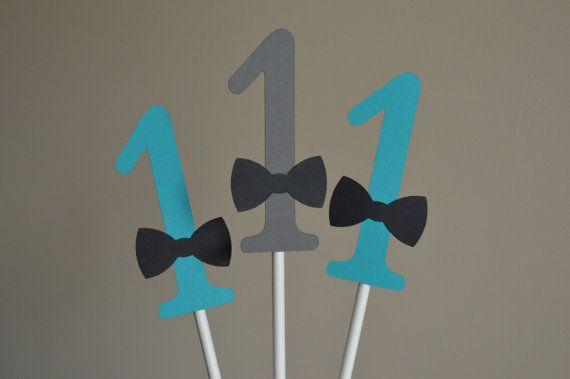 Mustache Centerpiece - Mustache Party Centerpiece -1st Birthday- Number Centerpiece - Mustache Bash - Teal Blue Gray - Set of 6 on Etsy, $13.34 CAD