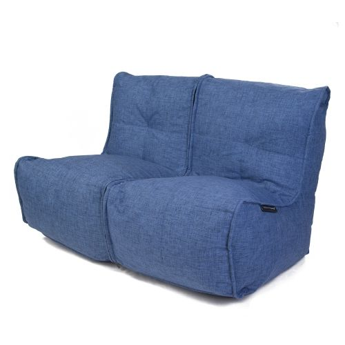 Twin Couch™ - Blue Jazz (синий) | Бескаркасный диван и бин бэги премиум-класса для интерьеров в стиле Contemporary | Дизайнерская мягкая мебель