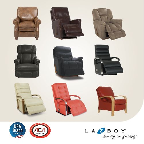 La-Z-Boy recliners offer total body support. A patented full-layout recline position means the user can kick back and stretch out for full-body relaxation :)