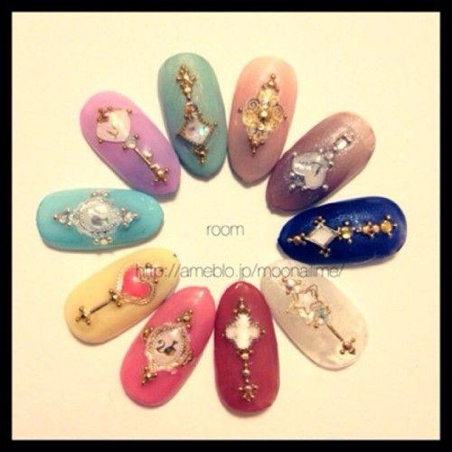 moonail: #nail #nails #nailart #ネイル #roomnail #room