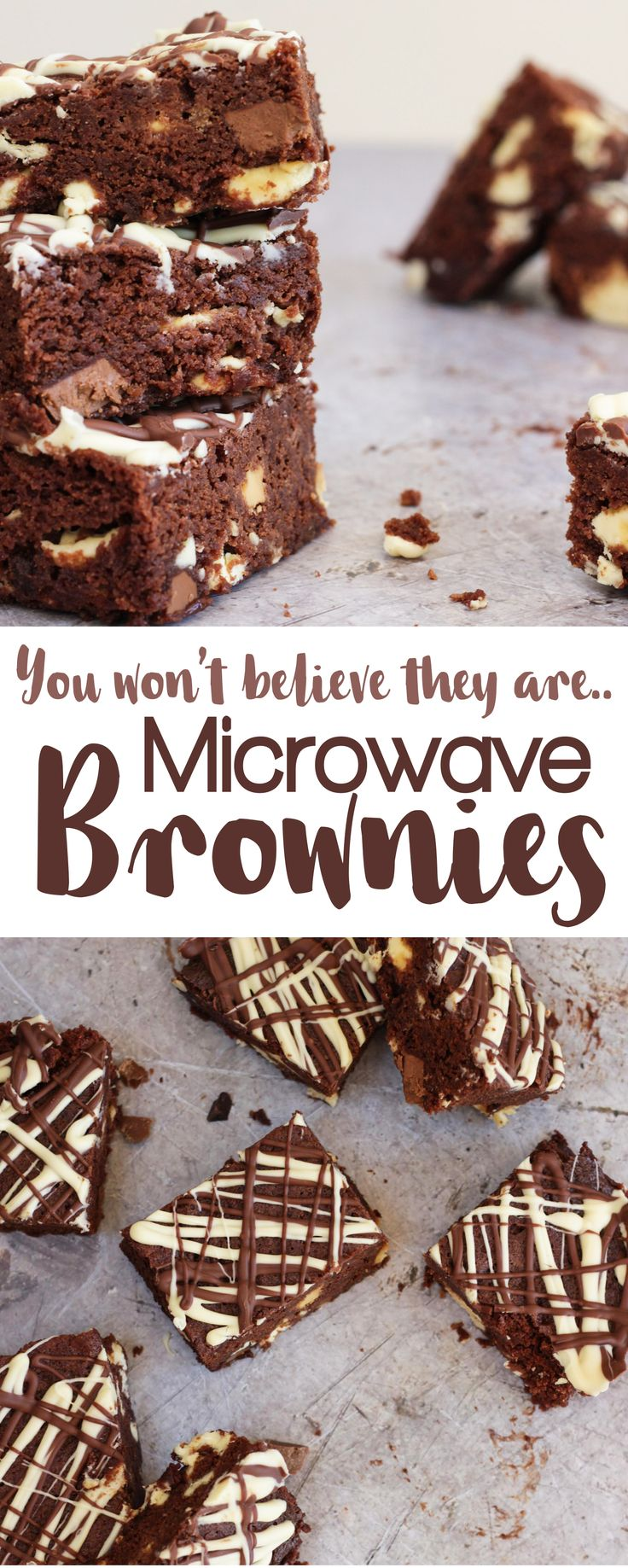 Double Chocolate Microwave Brownies - Stop what you're doing, microwave brownies are a thing and they ARE SO GOOD! They can be yours in under 30 minutes... Fudgy, chocolatey deliciousness microwaved in a flash. The perfect cake, pudding, dessert, gift or