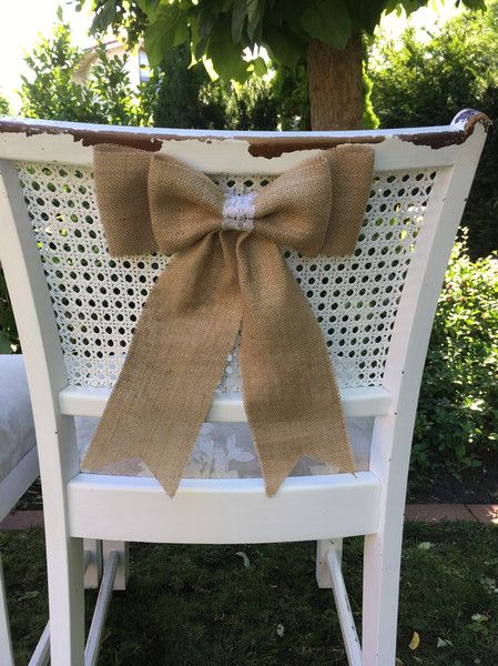 Accessoires - Stuhlschleifen Jute Hochzeit  - ein Designerstück von Ira1234 bei DaWanda