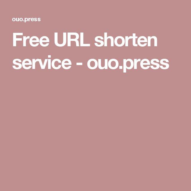 Free URL shorten service - ouo.press