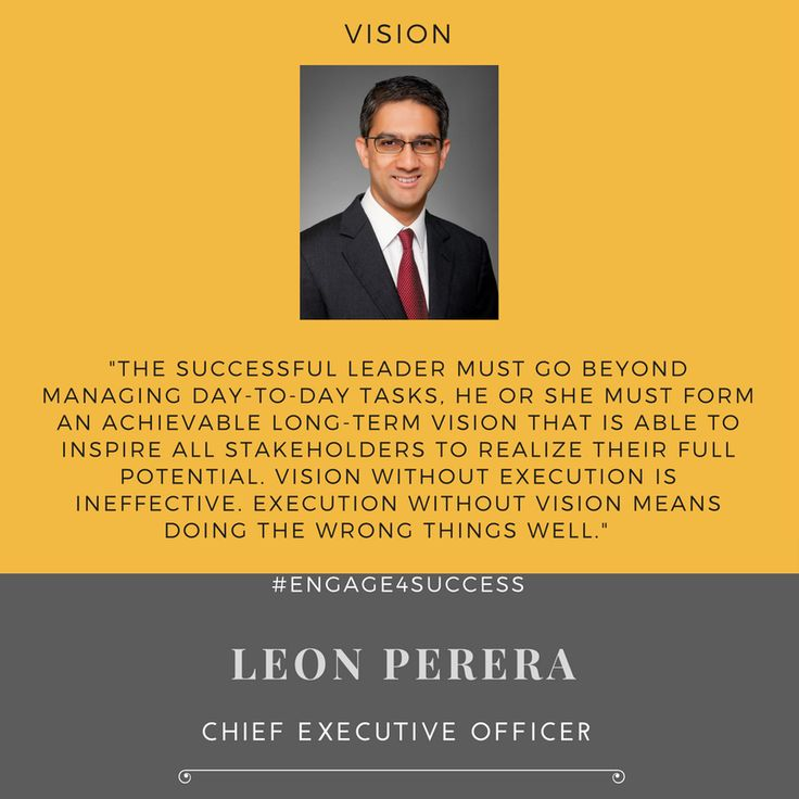 How does one become an effective leader?   Here's what Leon Perera, CEO of Spire Research and Consulting has to say about achieving success as a leader.   The successful leader must go beyond managing day-to-day tasks. He or she must form an achievable long-term vision that is able to inspire all stake-holders to realize their full potential. Vision without execution is ineffective. Execution without vision means doing the wrong things well.  #ThoughtLeaders #Engage4Success #Vision…