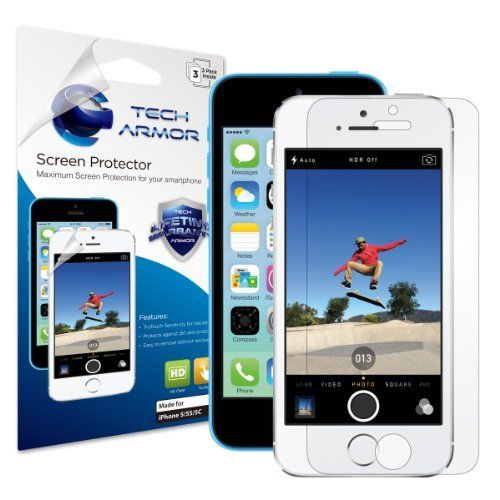 Tech Armor iPhone 5S / iPhone 5C / iPhone 5 Premium High Definition (HD) Clear Screen Protector [3-Pack] - Retail Packaging by Tech Armor, http://www.amazon.com/dp/B008THTTUI/ref=cm_sw_r_pi_dp_h8Fpsb068TK4K