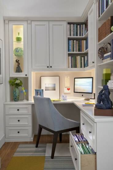 Pic of Den area -- like the good use of a small space - love the drawer