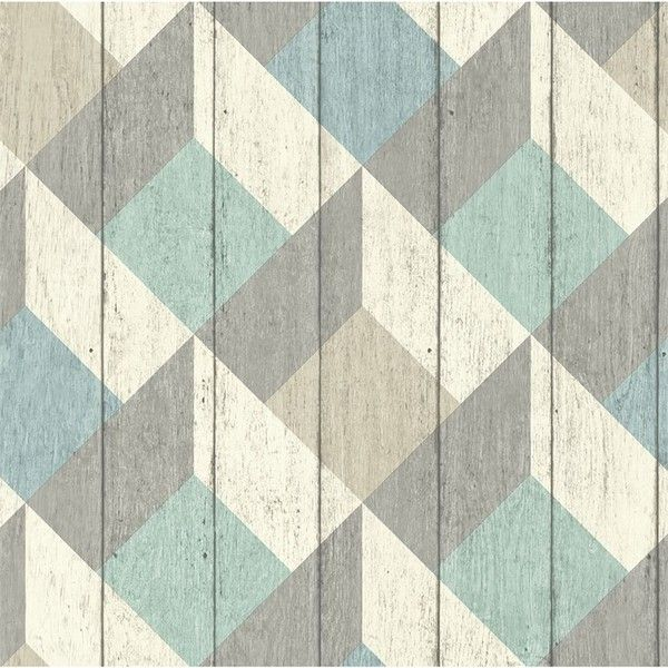 Grandeco Geometric Wood Green Blue Wallpaper (29 CAD) ❤ liked on Polyvore featuring home, home decor, wallpaper, timber wallpaper, geometric wallpaper, wooden wallpaper, aqua wallpaper and geometric home decor