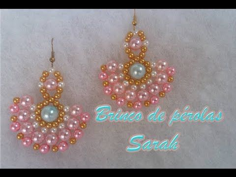 Brincos SIMPLES e fácil de fazer - Simple and easy to make earrings - YouTube