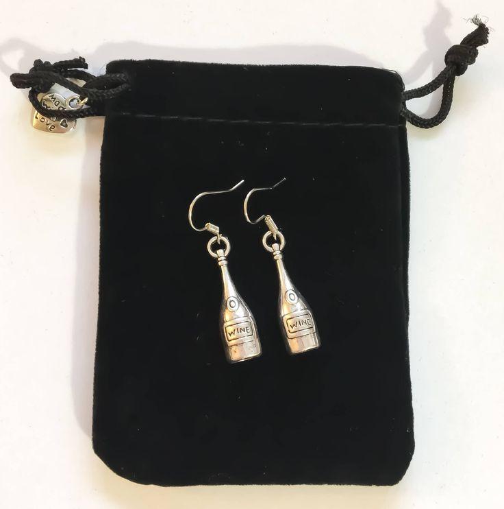 Wine Earrings, Dainty Earrings, Mom Gifts, Wine Bottle Charm, Gift Ideas, Wine Gifts, Wine Lover, Gifts, Bestfriends, Fun Gifts, Unique Gift by MissFitBoutiqueCA on Etsy https://www.etsy.com/ca/listing/560723042/wine-earrings-dainty-earrings-mom-gifts