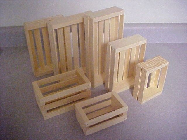 Wood Crates : ForCraftsSake.com, Soap Molds, Soap Cutters, Wood Crates, Displays