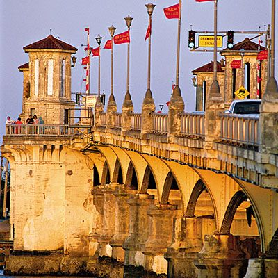 I love walking across the Bridge of Lions in St. Augustine, Florida.