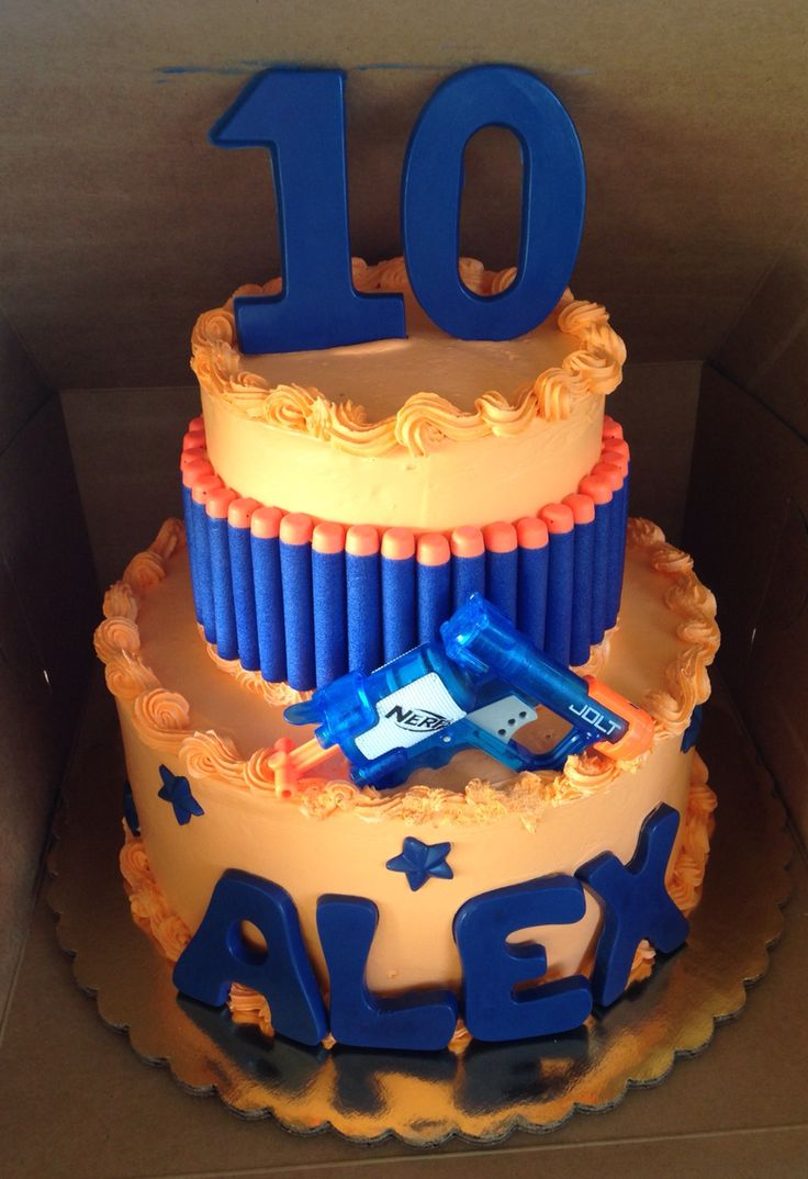 Best Cake Decorating Gun : 17 best ideas about Nerf Gun Cake on Pinterest Nerf ...