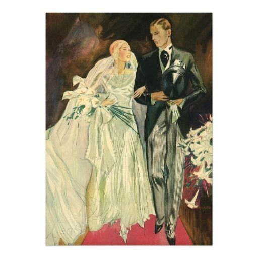 Walk me down the aisle? De vintage enkel Gehuwde Jonggehuwden van de Bruid Uitnodigingen