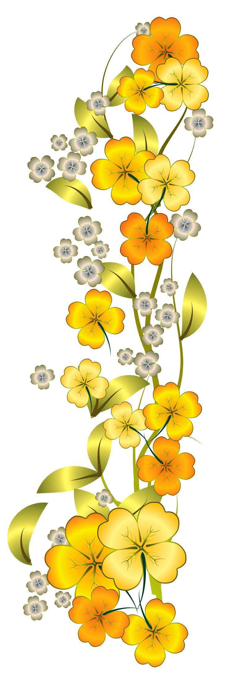 Church flower clipart church flower image church flowers graphic - Yellow Flower Decor Png Clipart