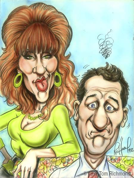 The Bundys, Married With Children, Al Bundy and family, karikatur, famous, comedy