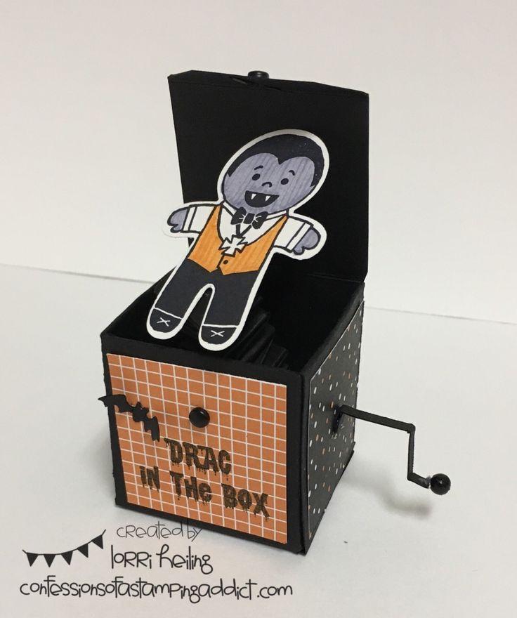 drac in the box lorri heiling stampin up cookie cutter halloween dracula - Stampin Up Halloween Ideas