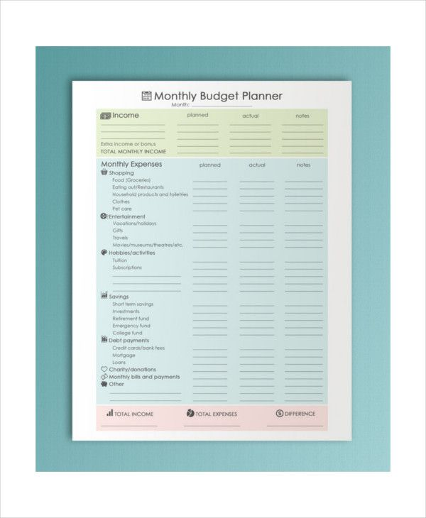 The 25+ best Monthly budget template ideas on Pinterest Free - monthly budget