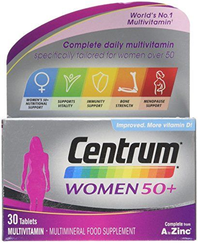 The Product Centrum 50 Plus Multivitamin Tablets for Women, Pack of 30  Can Be Found At - http://vitamins-minerals-supplements.co.uk/product/centrum-50-plus-multivitamin-tablets-for-women-pack-of-30/