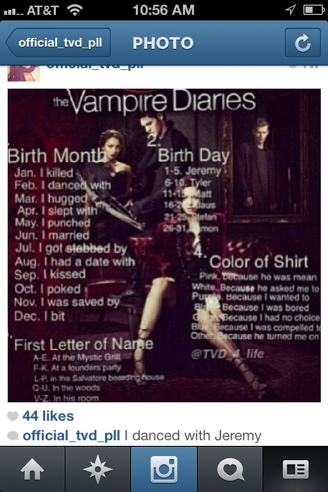 I danced with Klaus at the mistic falls grill, because he asked me to.