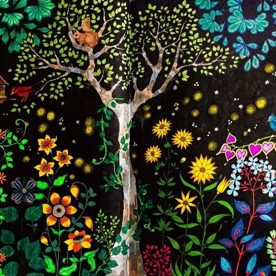 flor azul jardim secreto : flor azul jardim secreto:Johanna Basford Gallery Colouring