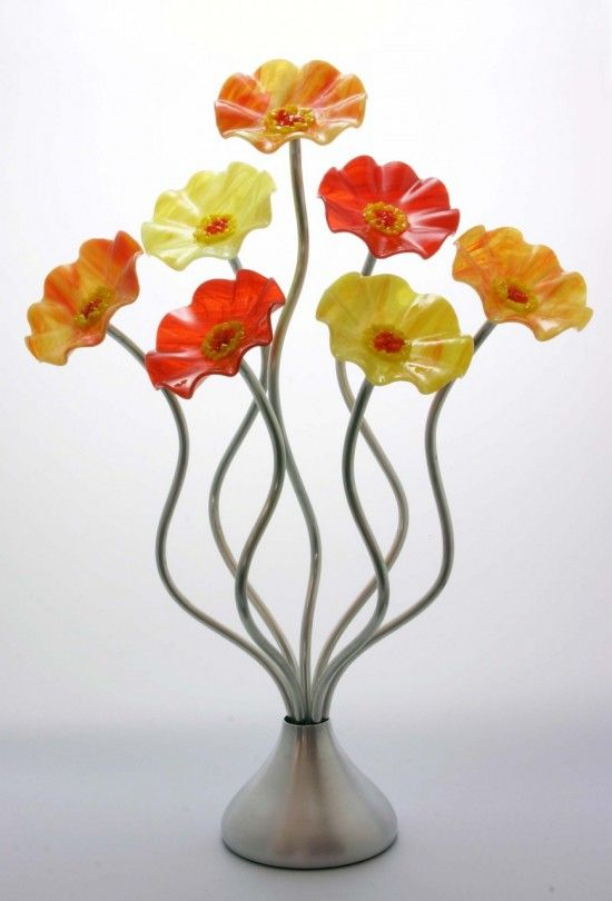 127 best GLASS FLOWERS images on Pinterest | Glass flowers, Blown ...