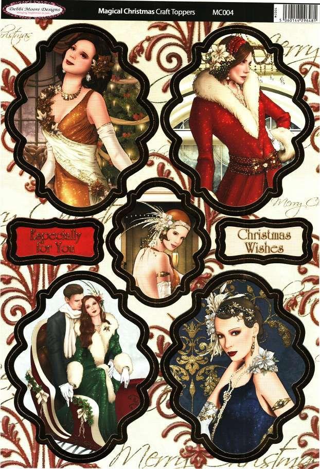 Debbi Moore Designs - Die Cut Art Deco toppers - Magical Christmas #4