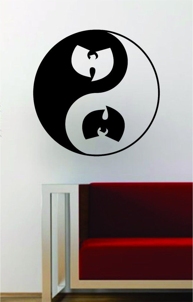 Wu Tang Clan Yin Yang Hip Hop Rap Quote Decal Sticker Wall Vinyl Art Music Lyrics Yoga