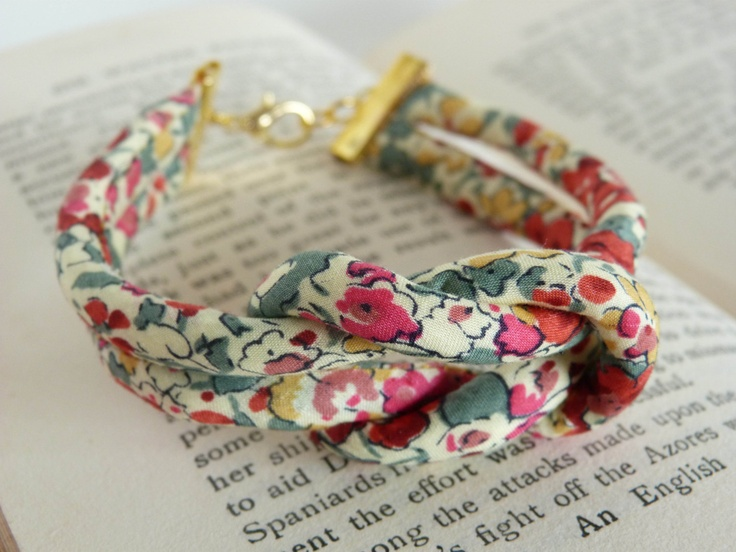 Sailors Knot Bracelet in Liberty of London Fabric. $13.50, via Etsy.