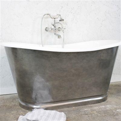 Penhaglion Antique Clawfoot Bathtub For Sale, Vintage Designer Cast Iron  French Bateau Tub Package.