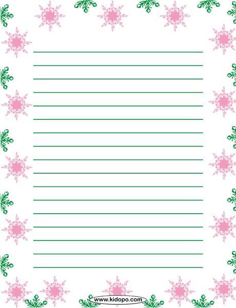 Printable ice writing paper