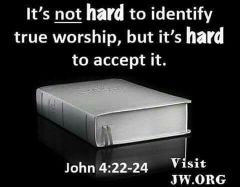 It's not hard to identify true worship, but it's hard to accept it.