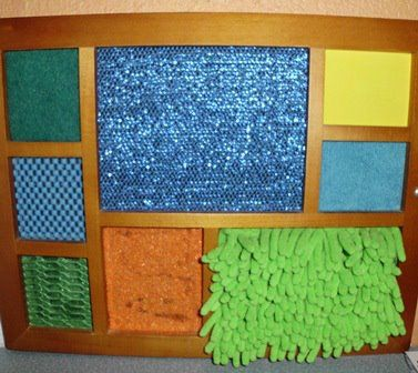 Add to your child's sensory input. I made this touch board out of fabric of different textures and an old picture frame. https://www.facebook.com/aidensautisticworld