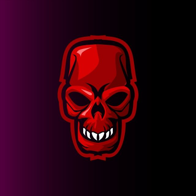 Red Skull E Sports Mascot Logo For Gaming Or Twitch Skull Logo Sports Logo Design Mascot