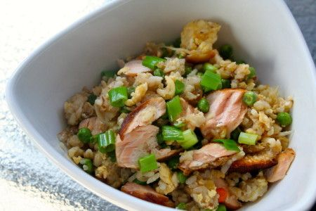 Fried Rice Recipe with Salmon