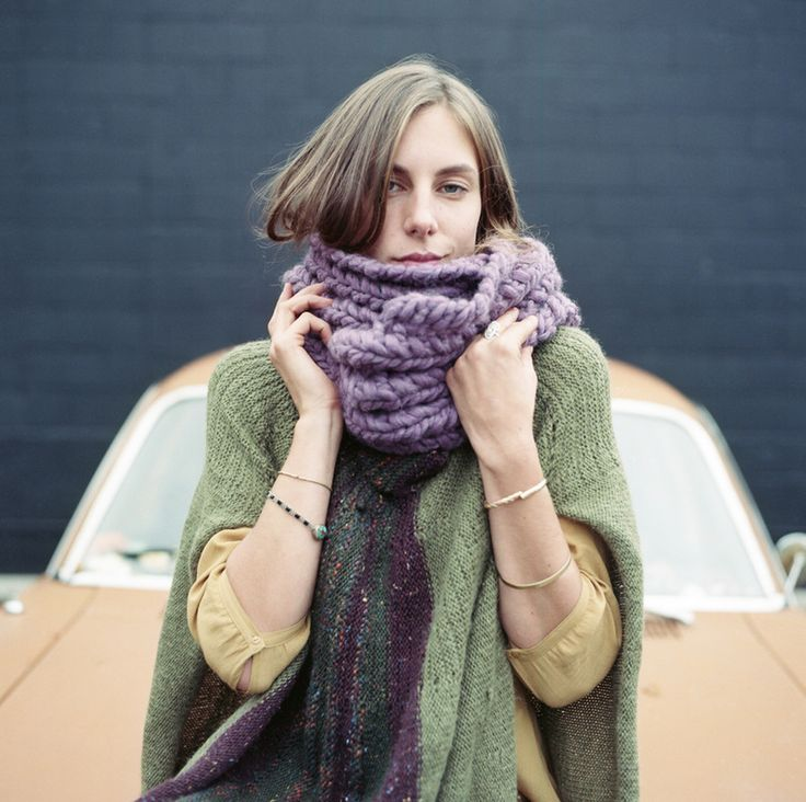 RIVA GRANDE in orchid, hand knit with Peruvian highland wool by zedhandmade.com
